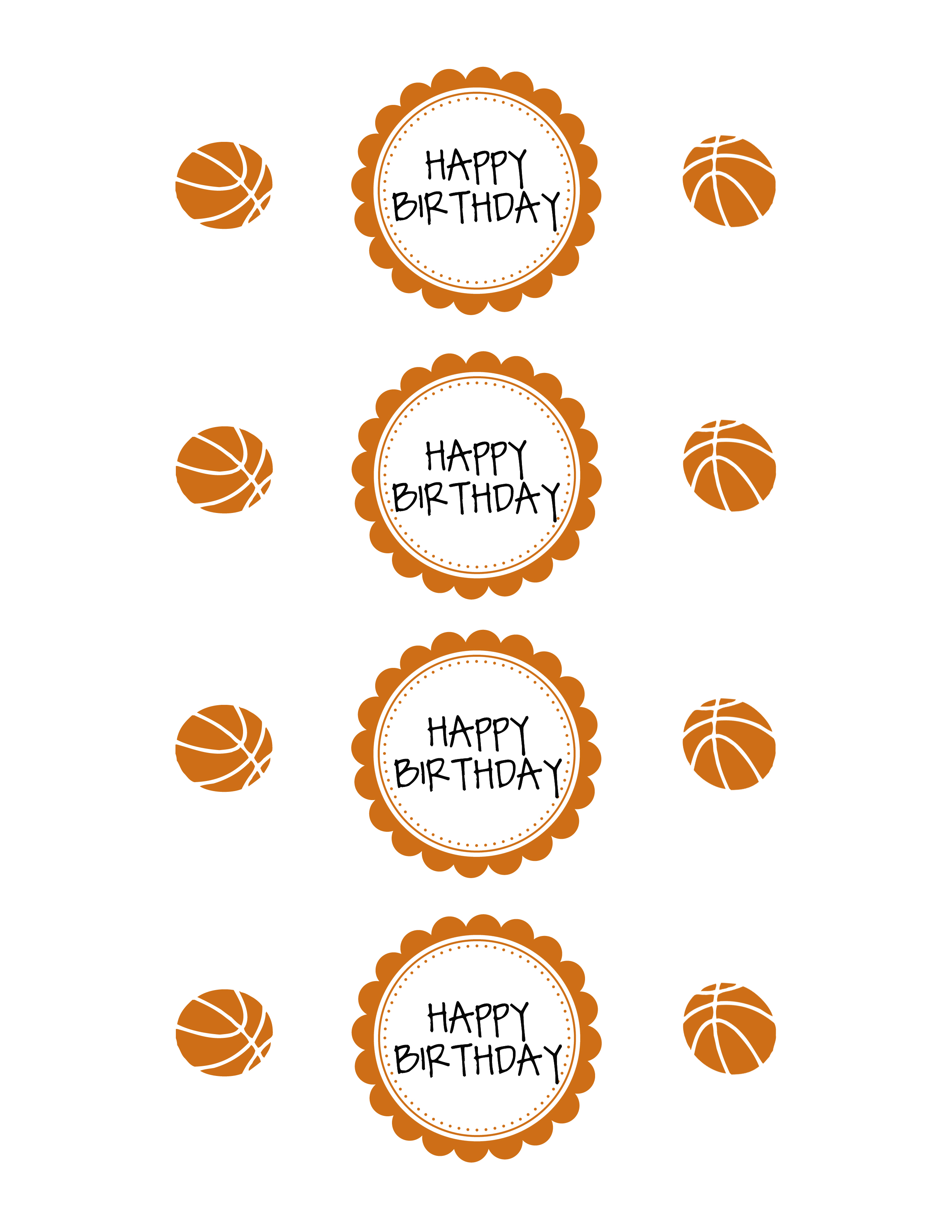 basketball party printable pack
