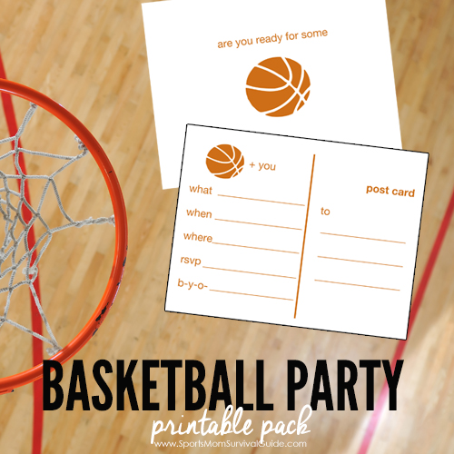 Hosting a March Madness Party or a Basketball Birthday Party? We've got you covered with this free Basketball Party Printable Pack, includes invites & more!