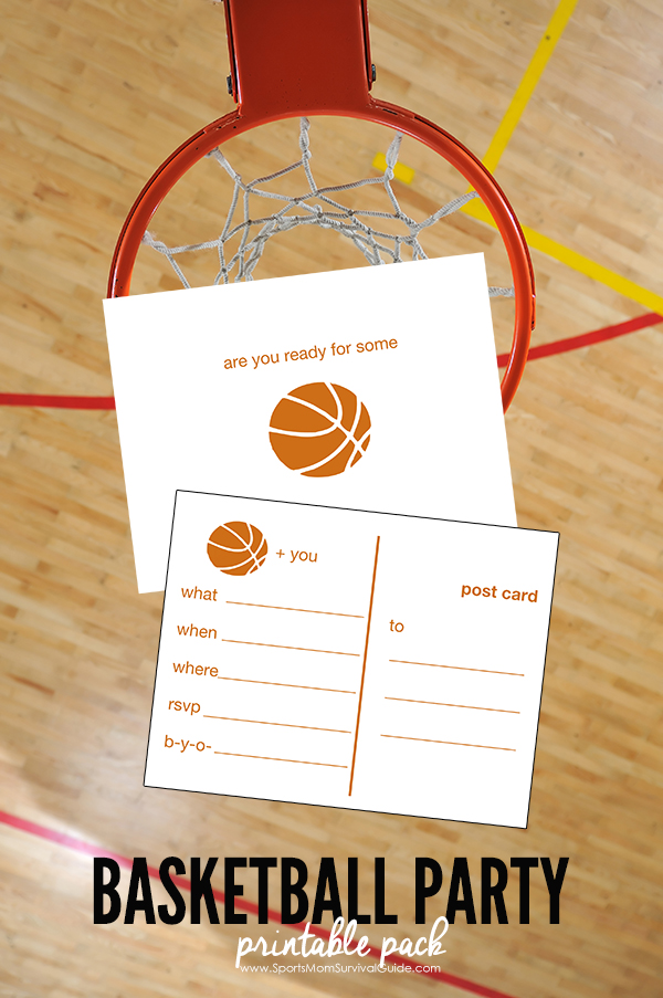 photograph relating to Printable Basketball Pictures identified as Basketball Social gathering Printable Pack