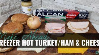 Easy Freezer Ham & Cheese Sandwiches