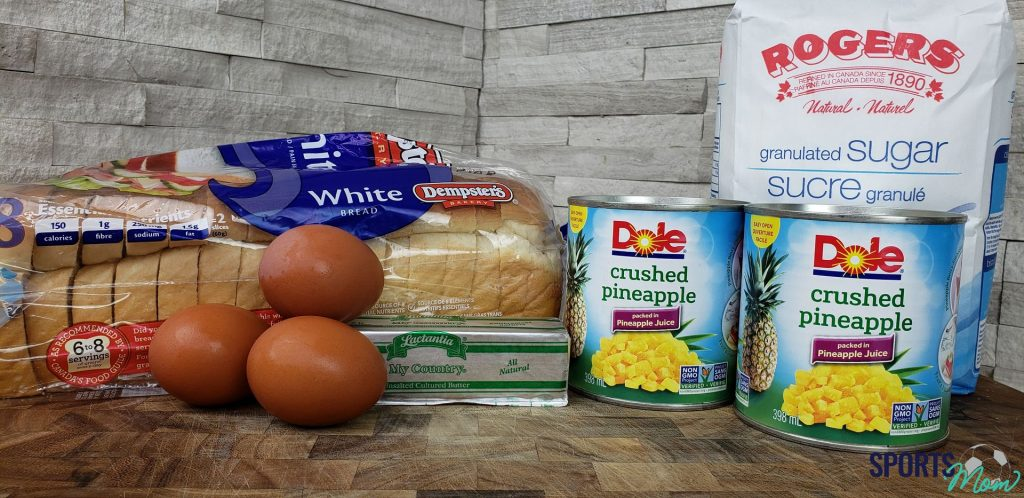 Ingredients to make Pineapple Souffle