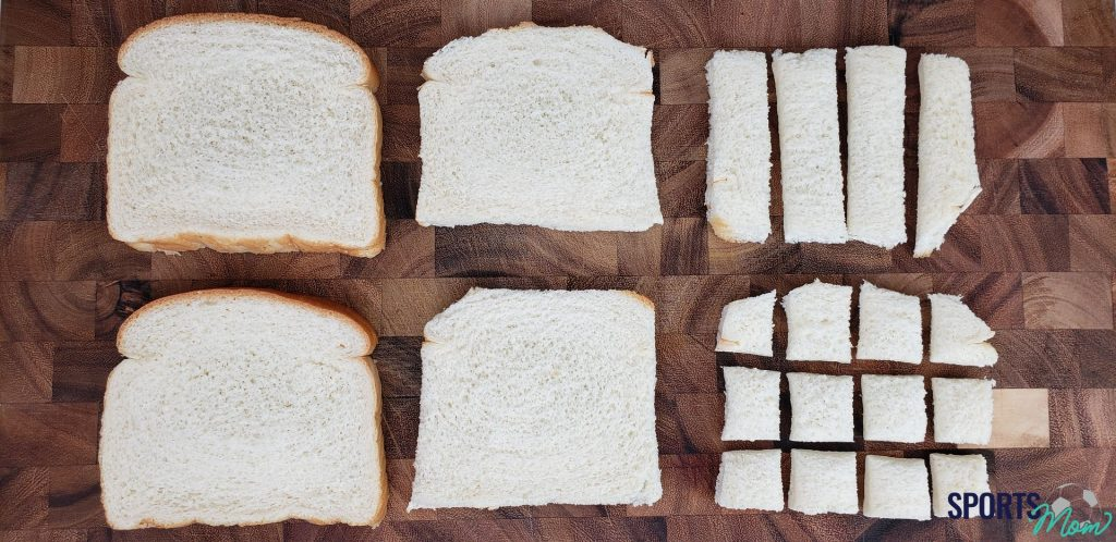 Step One: Cube Bread Slices