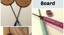 DIY Tennis Racket Cork Board