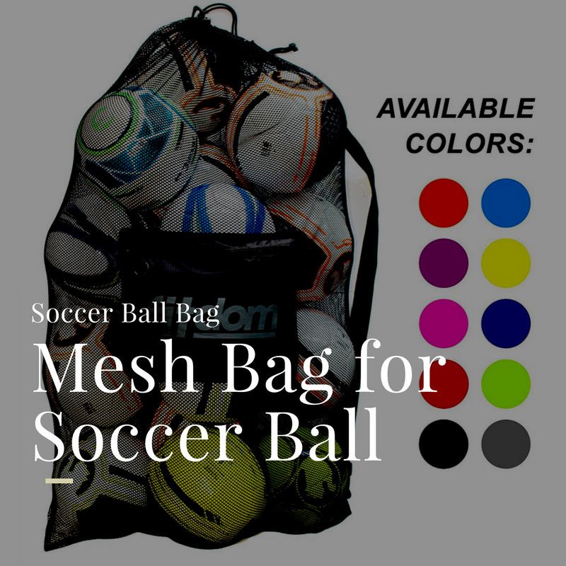 mesh bag for carrying soccer balls