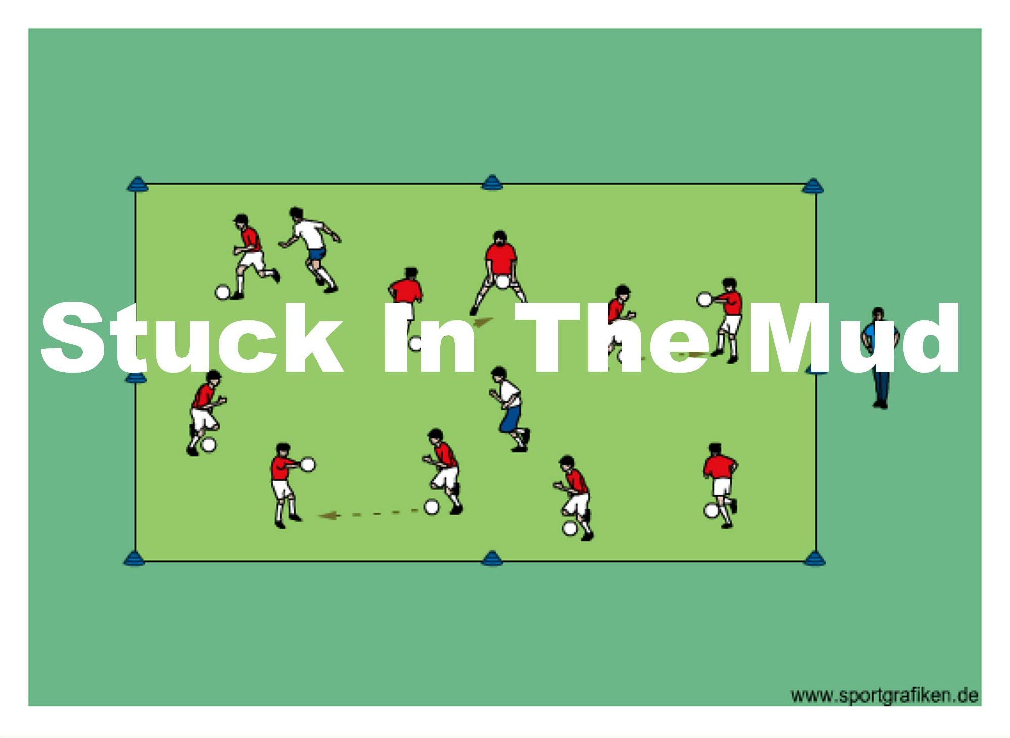 Soccer Stuck In The Mud Training Drill on Basic Slow Dance Diagram