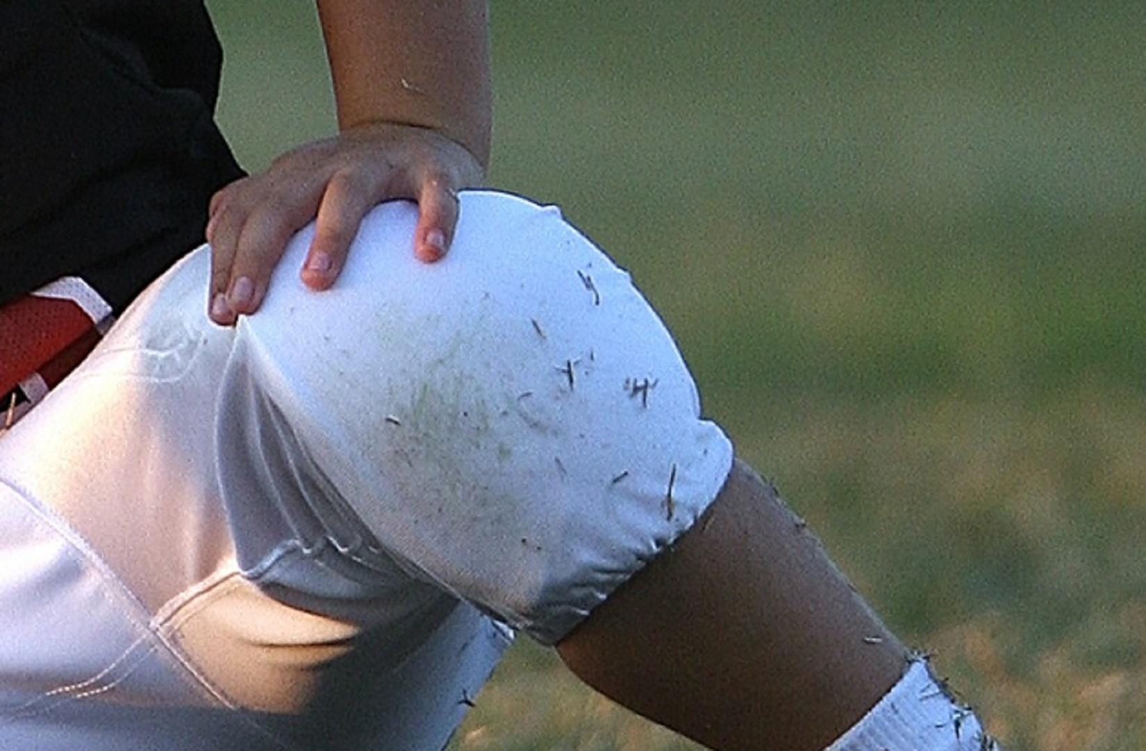 Grass stained knees are a common problem.