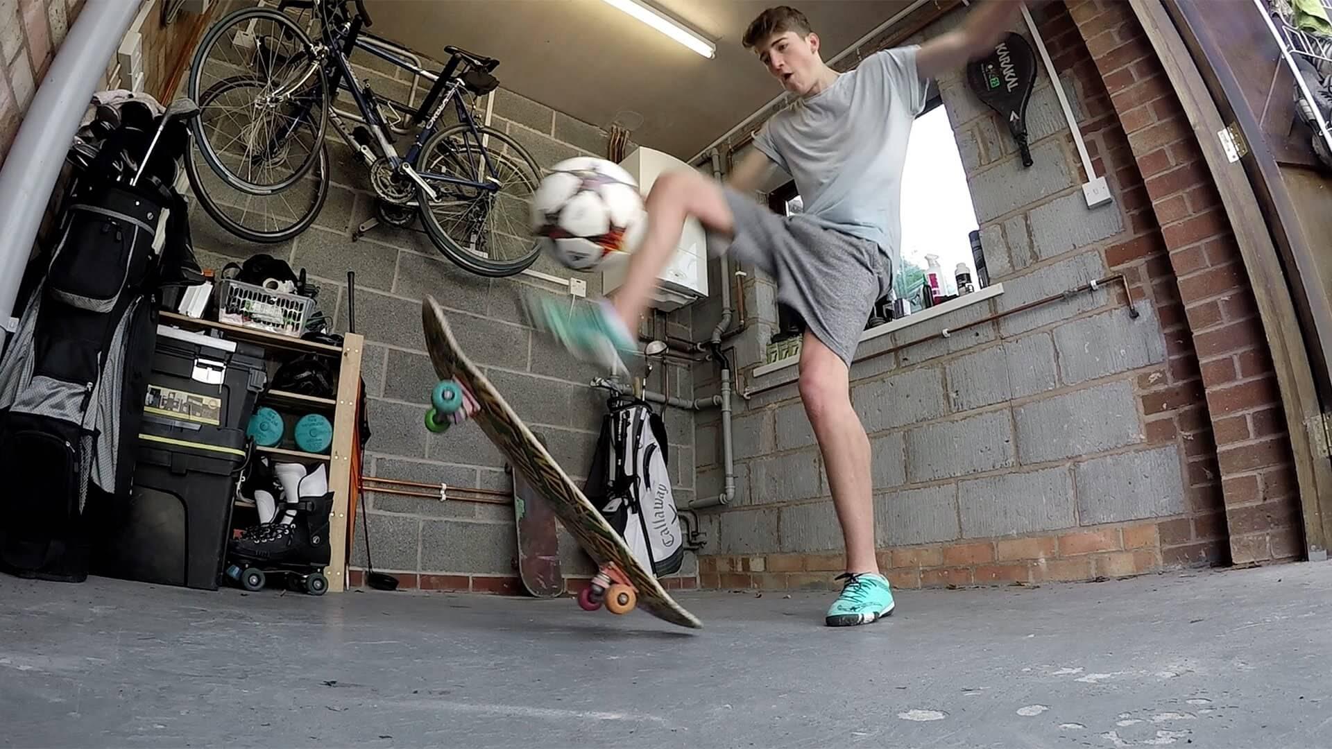 kieran brown football skills youtube
