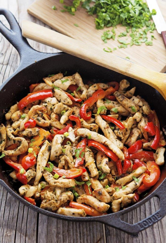 20-Minute Skillet Chicken Fajitas from The Iron You