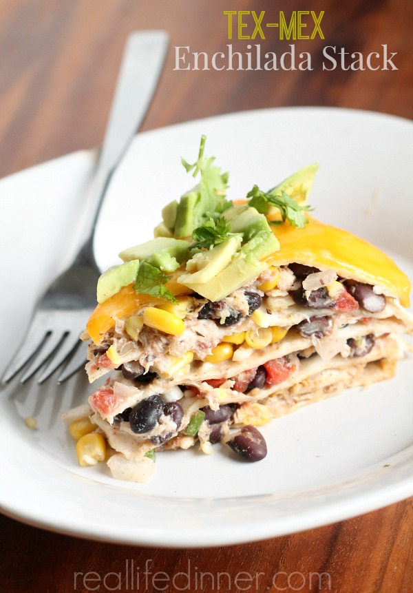 Tex-Mex Enchilada Stack from Real Life Dinner