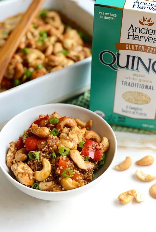 Cashew Chicken Quinoa Bake from Fit Foodie Finds