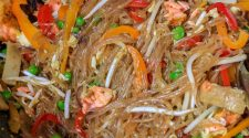 Singapore Noodles With Salmon Ready to Eat