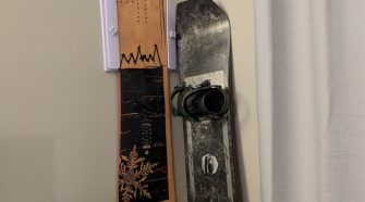MaxRax Snowboard/Ski Storage Rack Displayed on Wall