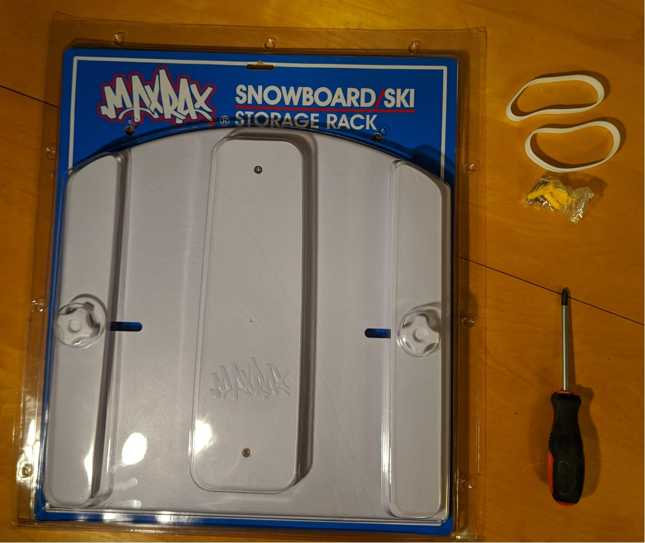 MaxRax Snowboard/Ski Storage Rack Parts Included
