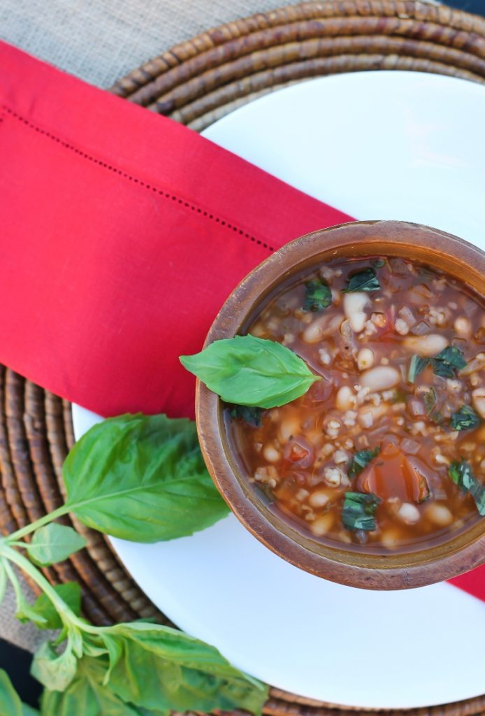 Bowl of italian white bean soup