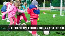 kids playing soccer who need their shoes cleaned