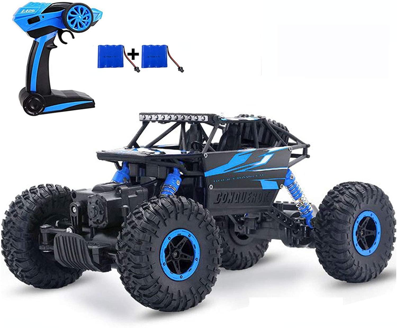 Blue off-road remote-control truck