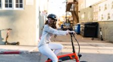 girl riding an e-bike