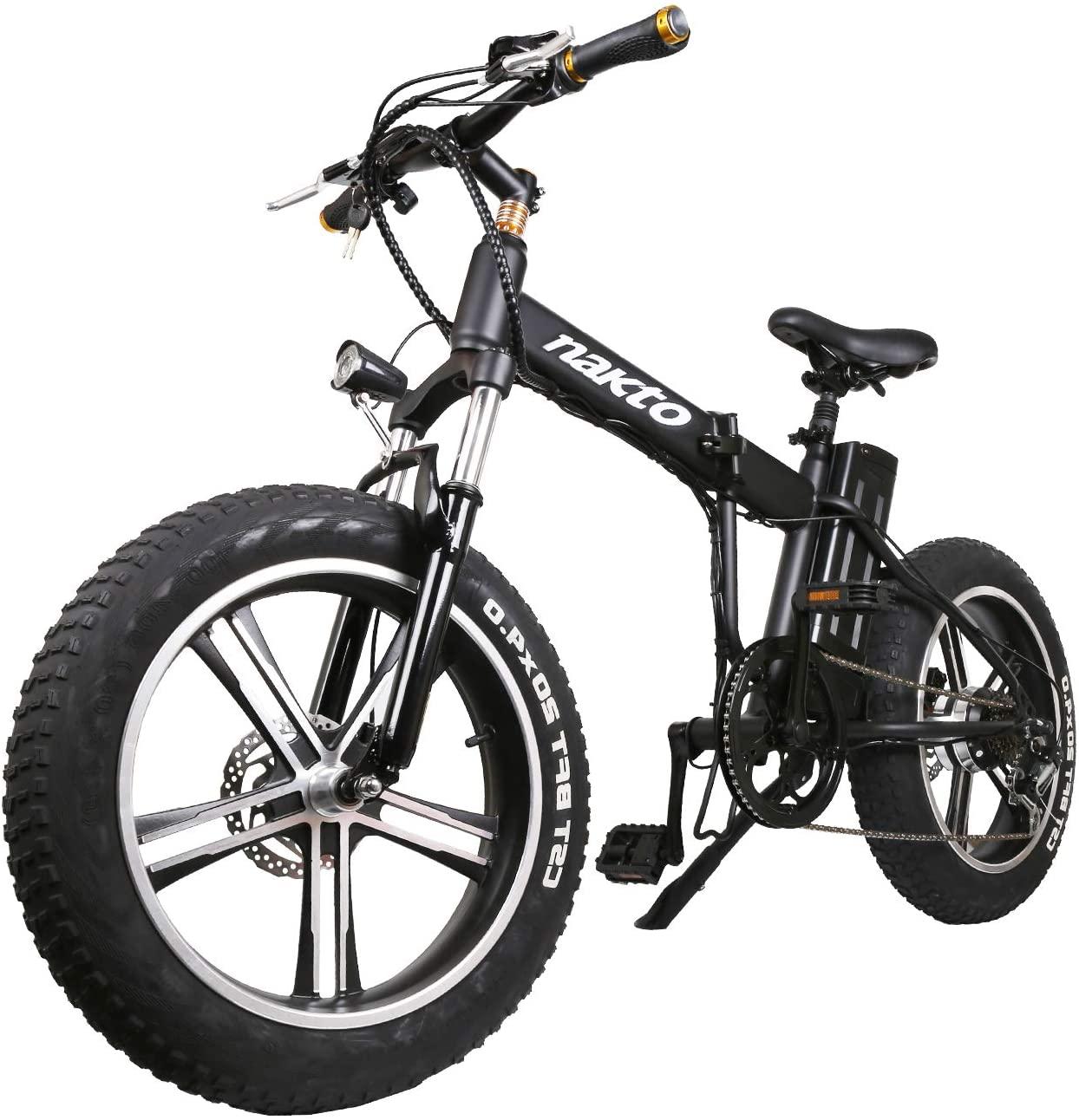 NAKTO Electric Bike Foldable Electric Bike