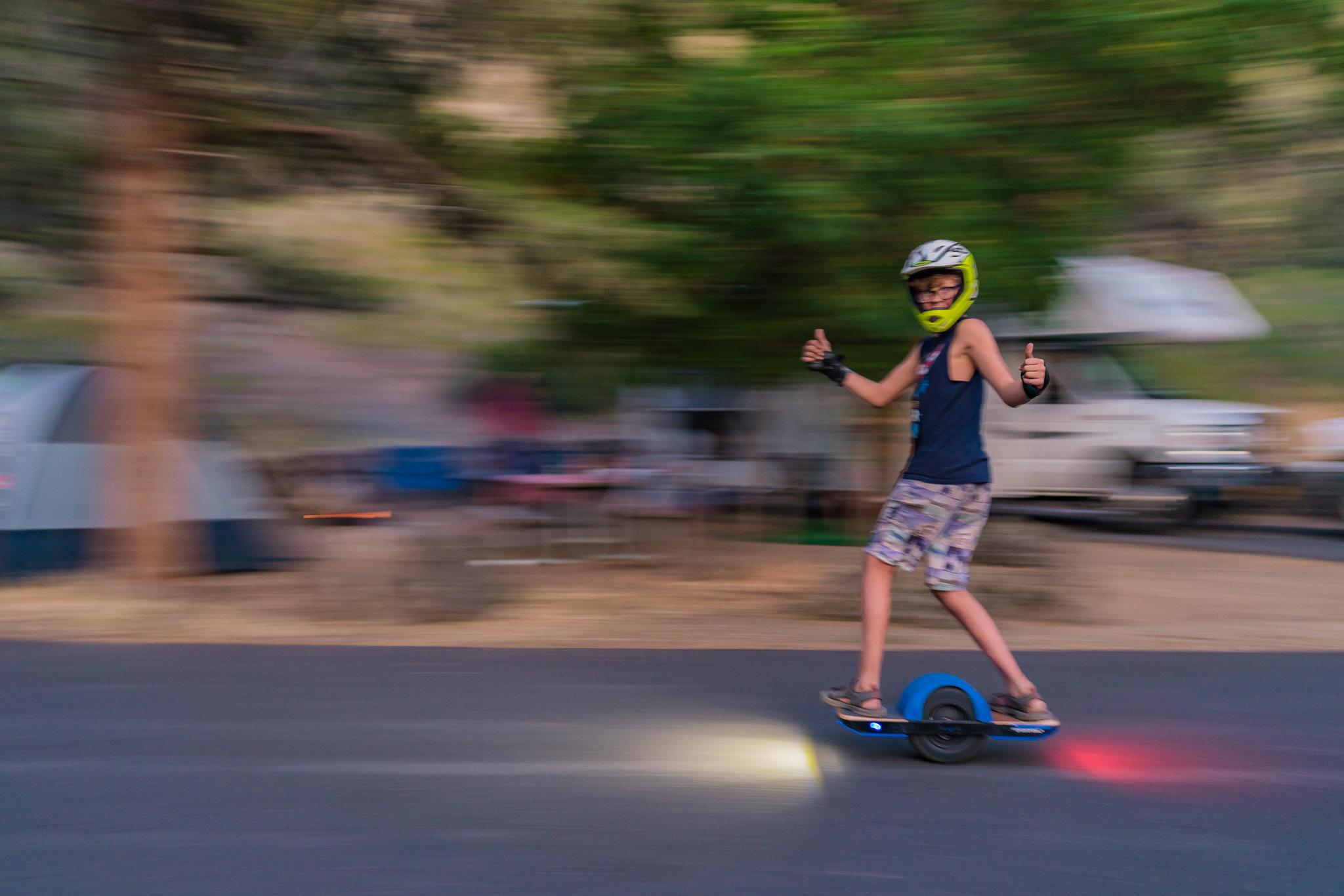 kids stay safe on one wheel